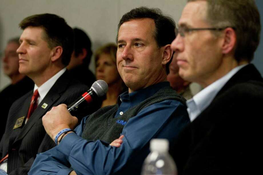 Rick Santorum campaigned in North Dakota on Wednesday. Photo: Elijah Nouvelage / Williston Herald 2012
