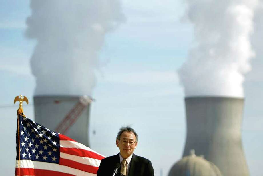 U.S. Secretary of Energy Secretary Steven Chu speaks during a visit to the Vogtle nuclear power plant Wednesday, Feb. 15, 2012, in Waynesboro, Ga. Chu's visit to east Georgia comes a week after the Nuclear Regulatory Commission approved a license for the Southern Co. to build a third and fourth reactor at Plant Vogtle. They will be the first commercial reactors built in the U.S. in more than 30 years. Photo: David Goldman, Associated Press / AP