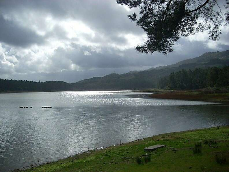 San Pablo Reservoir is fairly clear for February, when winter rains typically muddy the waters. Sinc