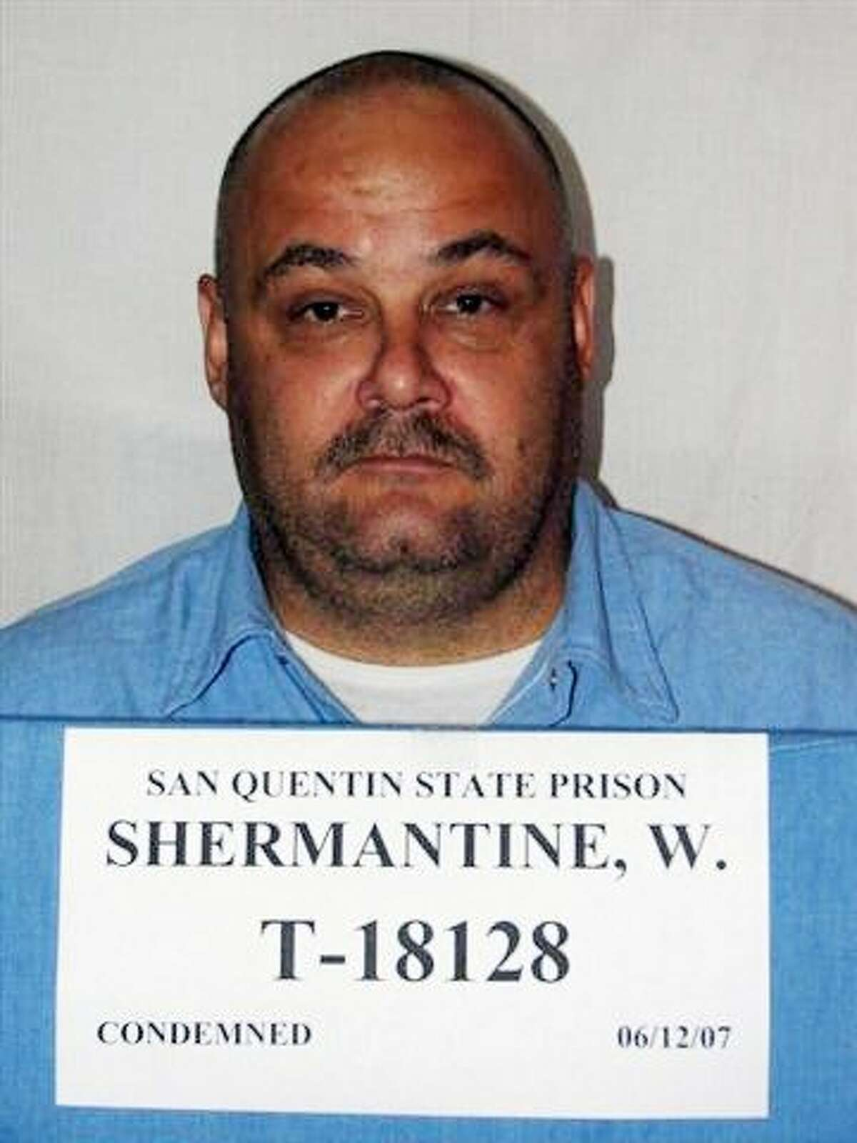 """In this undated file photo provided by the California Department of Corrections, Wesley Shermantine is shown. Authorities say Shermantine and Loren Herzog, dubbed the """"Speed Freak Killers,"""" wantonly murdered many throughout California's rural Central Valley before their arrest in 1999. Now, motivated by a bounty hunter's promise to pay, one of those convicted killer's is breaking his long-held secret and leading investigators to burial sites that have yielded hundreds of human bones"""