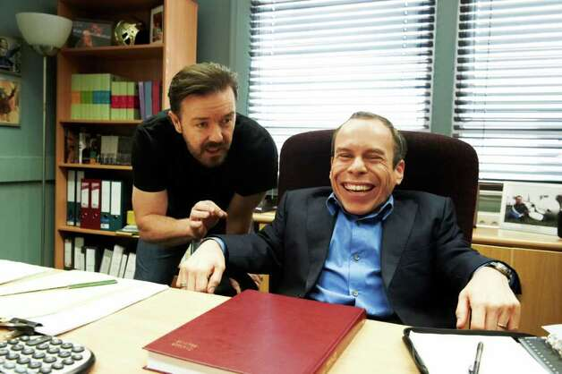 Ricky Gervais and Warwick Davis star in Life's Too Short Photo: HBO