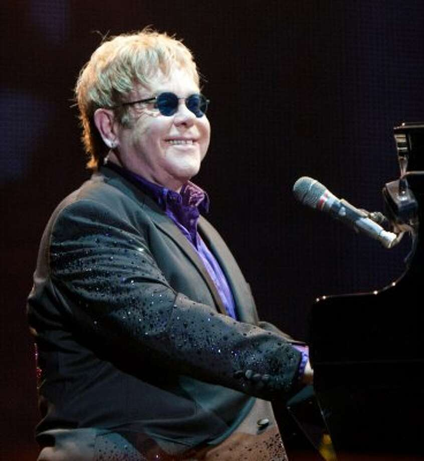 Elton John has been sober from a cocaine addict for many years. He and his partner have since become parents.  (Ronald Reyes / Associated Press)