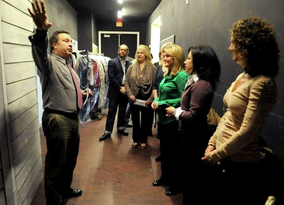 "Local ""stars"" gather backstage at Curtain Call before they are introduced to their professional partners during introductions for the Dancing with the Stars Spring Fundraiser in Stamford on Thursday, February 16, 2012. Photo: Lindsay Niegelberg / Stamford Advocate"