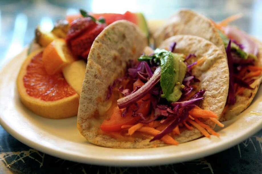 Veggie tacos from Adelante. Photo: HELEN L. MONTOYA, San Antonio Express-News / ©2012 San Antonio Express-News