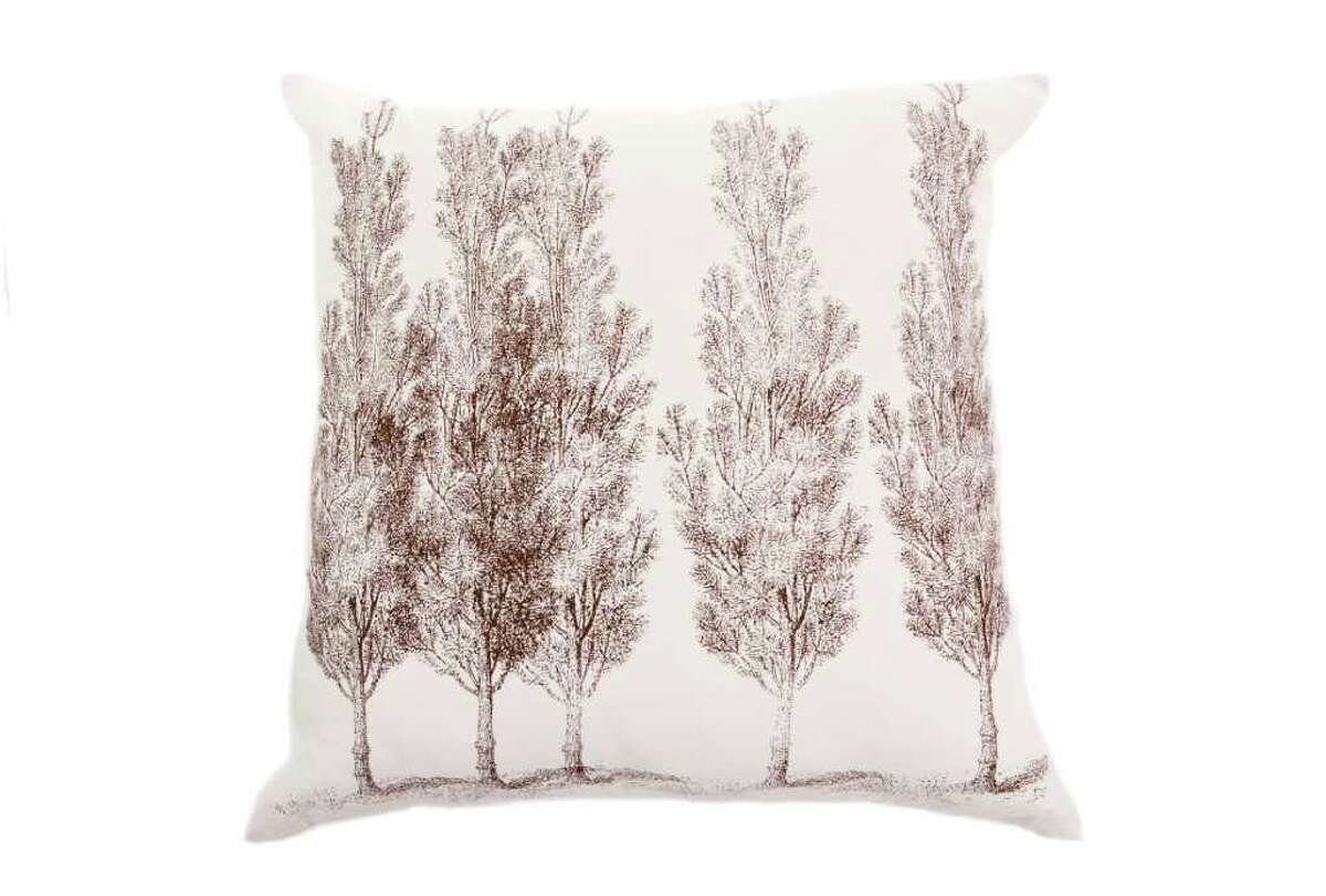 In this product image released by Allem Studio, a designer pillow showing a silk-screened image of forest is shown. (AP Photo/Allem Studio)