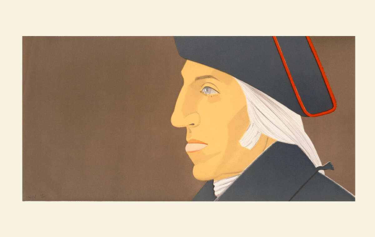 "George Washington (1732-1799) [Young Washington] Alex Katz 1975 Lithograph, ht.19 14/16"" x w.40"" Albany Institute of History & Art, Gift of Lorrilard Co., Kent, 1976.24.10"