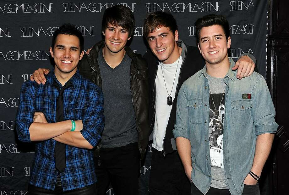 WEST HOLLYWOOD, CA - JANUARY 20:  (L-R)  Carlos Pena, James Maslow, Kendall Schmidt and Logan Henderson of Big Time Rush arrive at Selena Gomez's 2nd Annual Charity Concert To Benefit UNICEF at House of Blues Sunset Strip on January 20, 2012 in West Hollywood, California.  (Photo by Valerie Macon/Getty Images) Photo: Valerie Macon, Getty Images