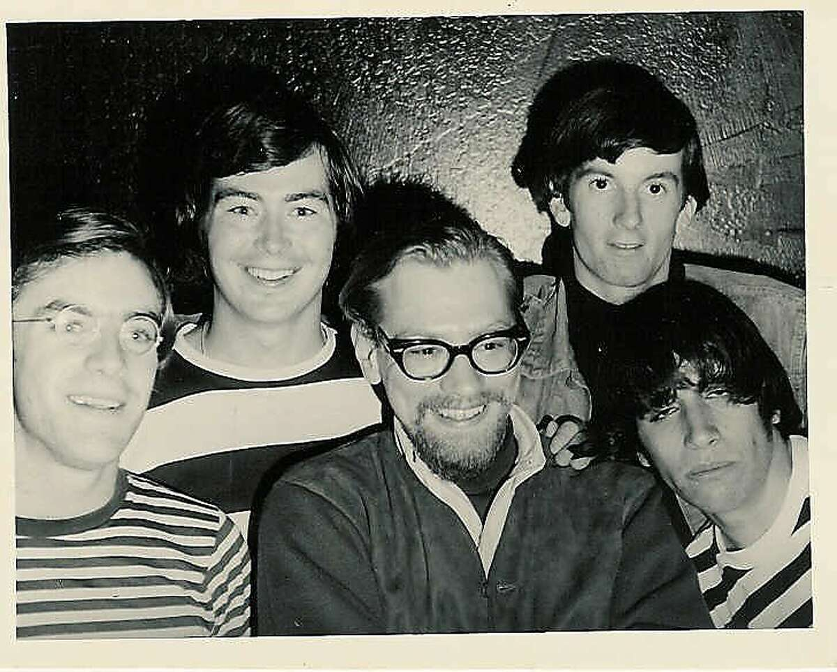 DJ Tommy 9now Tom) Saunders at KYA circa 1966 with the Lovin' Spoonful.