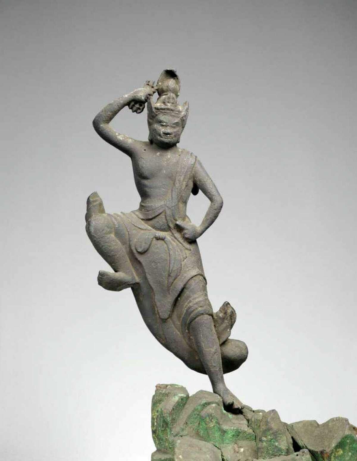 Unknown sculptor Standing Zao Gongen Kamakura period, 12th-13th century Bronze Tokyo National Museum