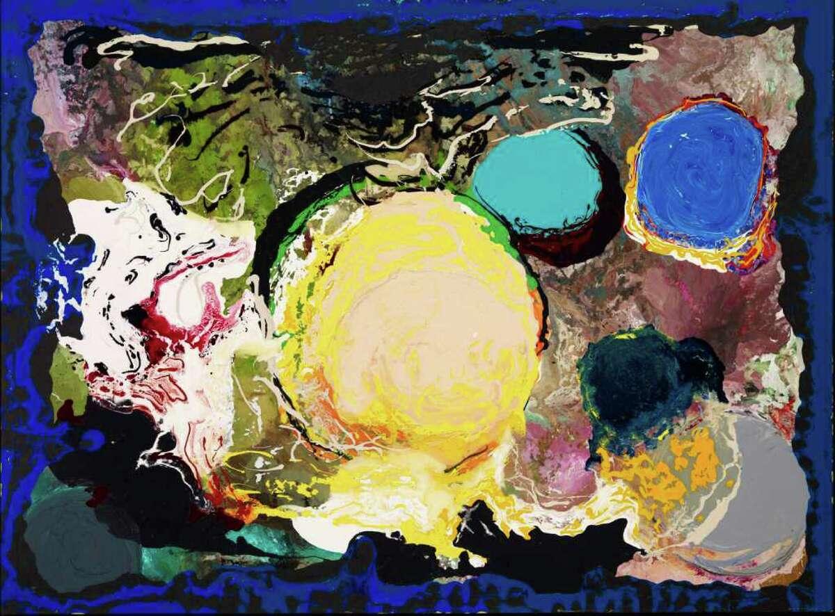 Jules Olitski, American, 1922-2007 With Love and Disregard: Splendor 2002 Acrylic on canvas Collection of Audrey and David Mirvish, Toronto Image Estate of Jules Olitski/Licensed by VAGA, New York, NY; photo: Michael Cullen
