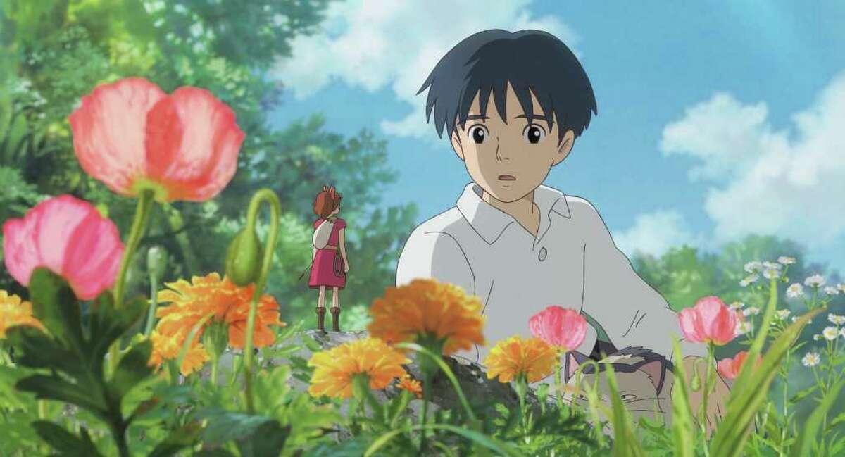 Studio Ghibli ?THE SECRET WORLD OF ARRIETTY? Human boy Shawn (right, voice of David Henrie) is astonished when he visits the garden and discovers Arrietty (voice of Bridgit Mendler) a tiny person who lives hidden with her family under the floorboards of the house where he?s staying, in Disney?s release of the Studio Ghibli animated feature, ?The Secret World of Arrietty.? (Opening in theaters Feb. 17, 2012) © 2010 GNDHDDTW. All Rights Reserved.
