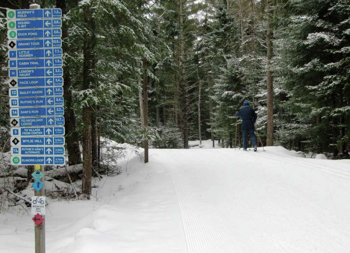 The Craftsbury Outdoor Center boasts 85 kilometers of groomed ski trails for all skill levels, with connections to more, spread over more than 400 acres of rural countryside.