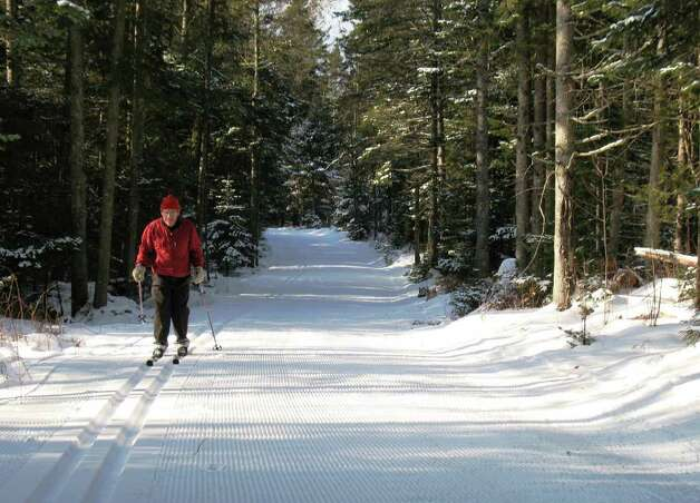The center grooms a trail system at the now-closed Highland Lodge in Greensboro as well as 20 kilometers of trails connecting the two systems, making a total of more than 100 kilometers.