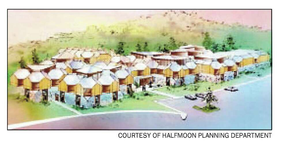 An artist's conception shows plans for a NXIVM complex filed six years ago with the town of Halfmoon. The plan, which was rejected by the town, called for a 75,000-foot complex. (Times Union archive)