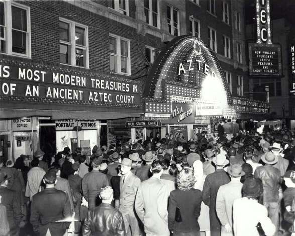 Historical photograph of the Aztec Theatre.  Courtesy Photo: COURTESY, AZTEC THEATER / © San Antonio Express-News