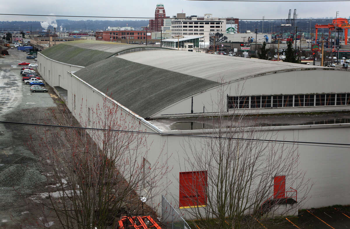 The possible location of a new NBA and NHL arena is shown south of the Safeco Field parking garage on Thursday February 16, 2012 in Seattle's Sodo neighborhood.