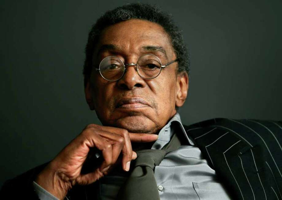 """FILE - This Monday, March 6, 2006 file photo shows Don Cornelius at his office in Los Angeles. Friends and family are gathering for a private memorial service for """"Soul Train"""" creator and host Don Cornelius in Los Angeles, Thursday, Feb. 16, 2012. Cornelius, 75, died Feb. 1, at his home in Los Angeles.  (AP Photo/Damian Dovarganes, File) Photo: Damian Dovarganes"""