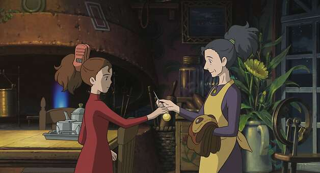 ÒTHE SECRET WORLD OF ARRIETTYÓ   Strong-willed Arrietty (left, voice of Bridgit Mendler) shows her mother, Homily (voice of Amy Poehler), an amazing object that she has ÒborrowedÓ while on her first covert mission with her father, in DisneyÕs release of the Studio Ghibli animated feature, ÒThe Secret World of Arrietty.Ó Photo: Walt Disney