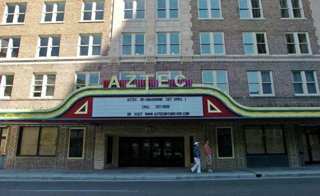 The historic Aztec Theatre, seen on March 24, 2006, will soon reopen as the Aztec On The River, will feature dining as well as shopping and special-effects shows. Photo: BILLY CALZADA, Express-News File Photo  / SAN ANTONIO EXPRESS-NEWS