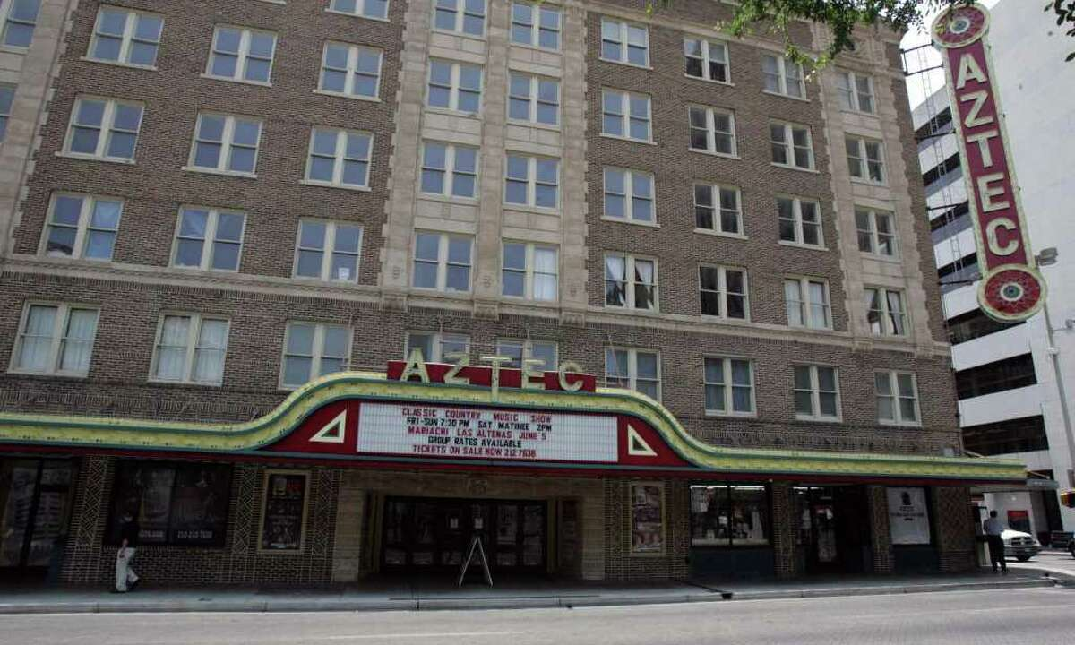 The Aztec Theatre, built in 1926, is part of the Texas Star Trail that connects many historical sites in downtown San Antonio. Tuesday, June 7, 2011.