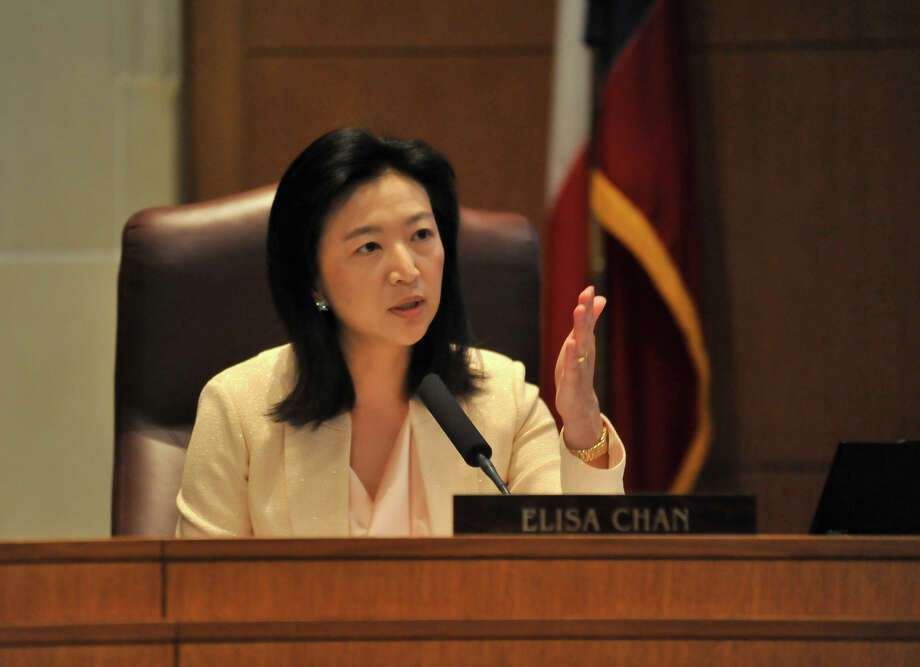 A secretly recorded tape of City Councilwoman Elisa Chan discussing the proposed expansion of San Antonio's anti-discriminaton ordinance with her staff lifts the veil from her real views on the LGBT community.  Photo: Robin Jerstad, FOR THE EXPRESS-NEWS / SAN ANTONIO EXPRESS-NEWS