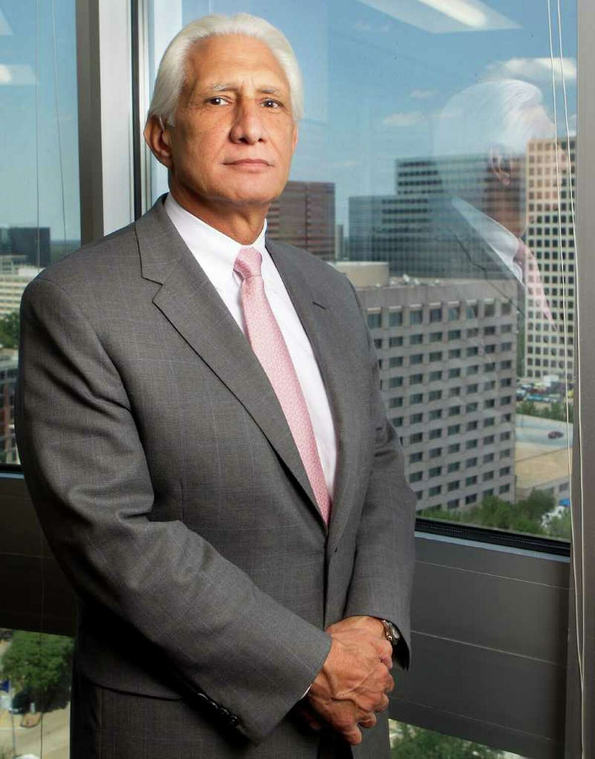 G. Steven Farris, chairman and chief executive officer of Apache Corp. is seen at their corporate office Thursday, May 5, 2011, in Houston. ( Cody Duty / Houston Chronicle )