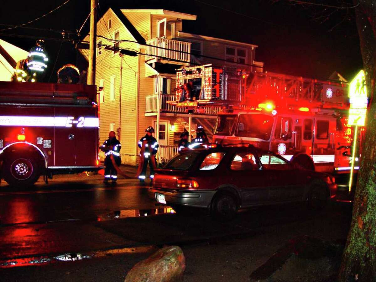 Firefighters extinguished a blaze in a dryer at 25 Bible St. Friday night. The fire caught in a dryer located in the third-floor kitchen of the three-family home shortly after 9 p.m. (Photo: Samuel T. Zack, Webmaster/Incident Photographer, PoliceFireEMS.com)