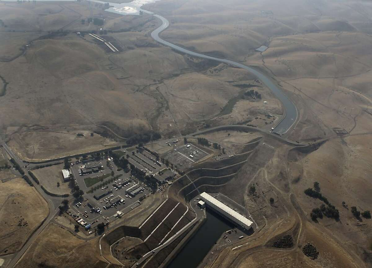 A pumping plant feeds fresh water from the Sacramento-San Joaquin River Delta to the California Aqueduct (above) on Wednesday, Nov. 9, 2011. If built, the Peripheral Canal would divert fresh water to the south and could have a significant impact on the future of the delta, its wildlife and local farming.
