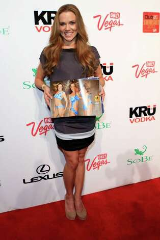 SI bodypaint model. swimmer Natalie Coughlin arrives at Club SI Swimsuit hosted by the Pure Nightclub at Caesars Palace at the Pure Nightclub at Caesars Palace on February 16, 2012 in Las Vegas, Nevada. Photo: Jacob Andrzejczak, Getty Images / 2010 Getty Images