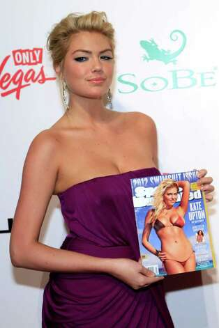 Sports Illustrated Swimsuit Issue cover model Kate Upton arrives at Club SI Swimsuit hosted by the Pure Nightclub at Caesars Palace at the Pure Nightclub at Caesars Palace on February 16, 2012 in Las Vegas, Nevada. Photo: Jacob Andrzejczak, Getty Images / 2010 Getty Images
