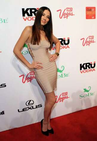 SI swimsuit model Jessica Gomes arrives at Club SI Swimsuit hosted by the Pure Nightclub at Caesars Palace at the Pure Nightclub at Caesars Palace on February 16, 2012 in Las Vegas, Nevada. Photo: Jacob Andrzejczak, Getty Images / 2010 Getty Images