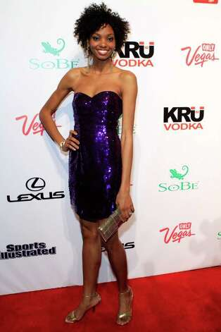 SI swimsuit model Adaora arrives at Club SI Swimsuit hosted by the Pure Nightclub at Caesars Palace at the Pure Nightclub at Caesars Palace on February 16, 2012 in Las Vegas, Nevada. Photo: Jacob Andrzejczak, Getty Images / 2010 Getty Images