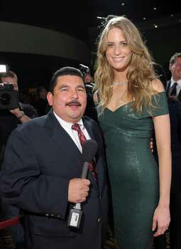 Guillermo Rodriguez and SI swimsuit model Julie Henderson arrive at Club SI Swimsuit hosted by the Pure Nightclub at Caesars Palace at the Pure Nightclub at Caesars Palace on February 16, 2012 in Las Vegas, Nevada. Photo: Michael Loccisano, Getty Images / 2010 Getty Images
