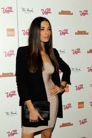 SI swimsuit model Jessica Gomes arrives at SI Swimsuit Overtime hosted by The Bank Nightclub at the Bellagio, held at The Bank Nightclub at the Bellagio on February 16, 2012 in Las Vegas, Nevada. Photo: Isaac Brekken, Getty Images / 2010 Getty Images