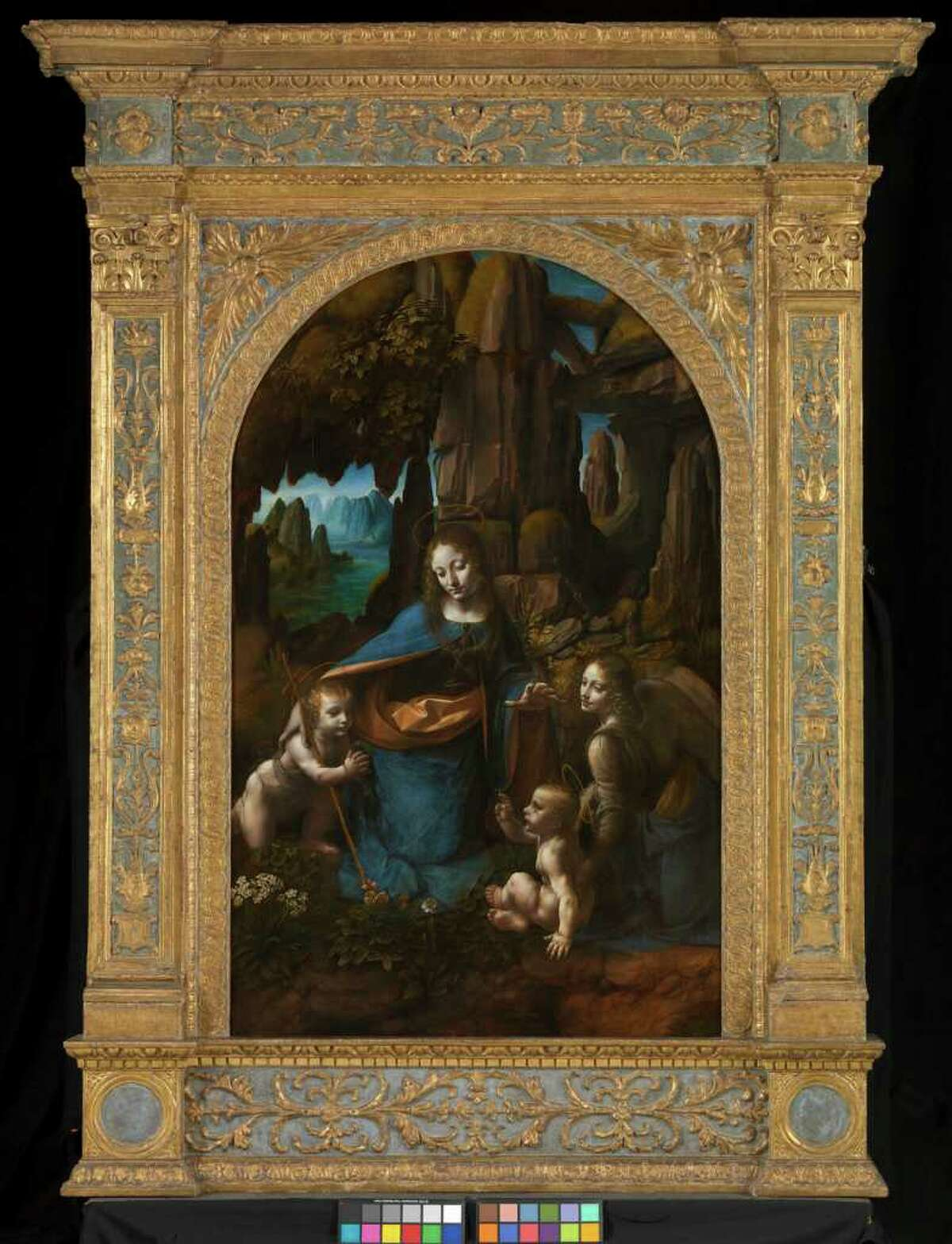 """The """"Virgin of the Rocks,"""" at the National Gallery in London, in an undated handout image. On Feb. 16, those who missed the Leonardo da Vinci blockbuster show of his work at the National Gallery London, will have an opportunity to view it on the film """"Leonardo Live,"""" at selected American theaters nationwide and around the world. (The National Gallery, London via The New York Times) -- NO SALES; FOR EDITORIAL USE ONLY WITH STORY SLUGGED FILM LEONARDO LIVE. ALL OTHER USE PROHIBITED. -"""