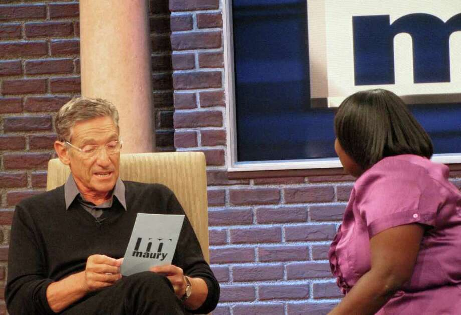 "Maury Povich is shown on the set of his syndicated talk show, ""Maury,"" in Stamford. Povich, who shares the studio with Jerry Springer and Steve Wilkos, is currently enjoying his best ratings in five years. ""Maury"" is the top talk show among young viewers. (AP Photo/The Maury Show) Photo: Associated Press / Maury Show"