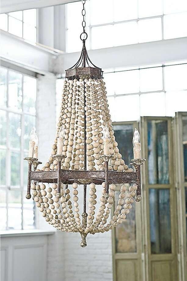 Beaded chandelier Photo: RianRae Interiors