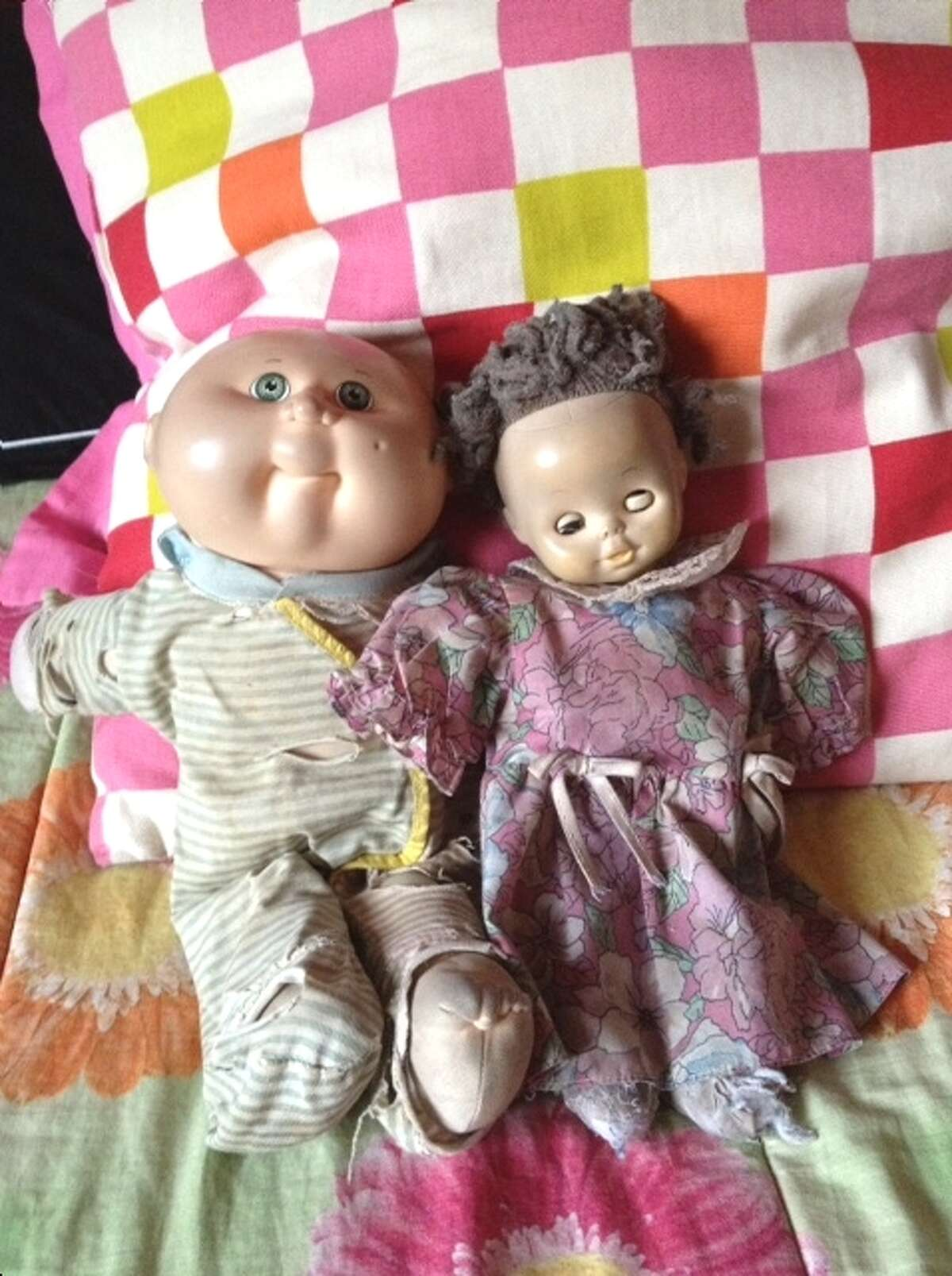 Jeannie and Sasha, a pair of beloved dolls, were left in the safety of home when their owner left for college. (Lynda Shrager photo)