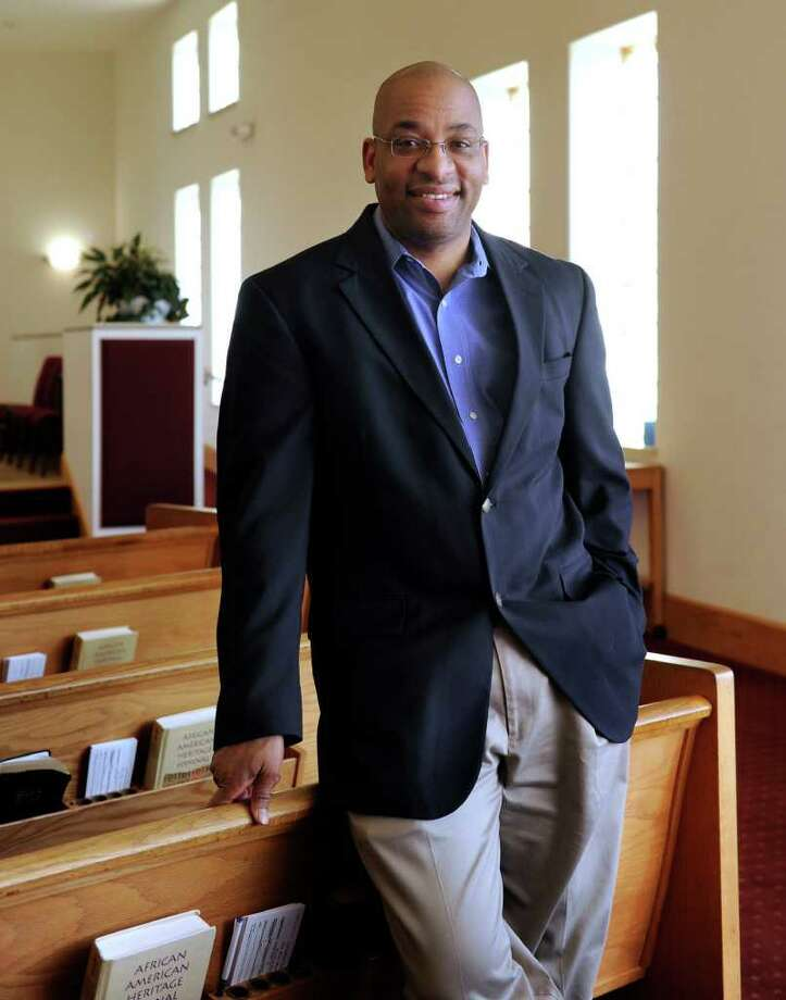 The Rev. Ivan Pitts is the pastor of New Hope Baptist Church in Danbury. Photo taken Friday, February 17, 2012. Photo: Carol Kaliff / The News-Times
