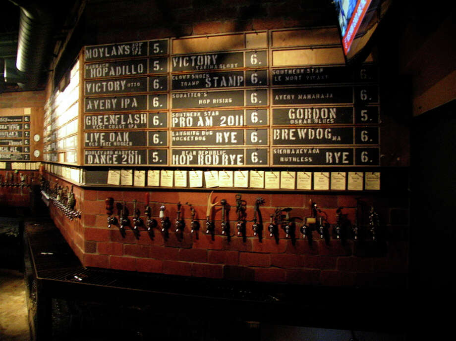 The Hay Merchant offers 80 craft beers on tap. Photo: Jordan Graber