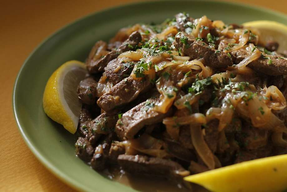 Venetian-Style Liver & Onions. Styling by Sarah Fritsche. Photo: Craig Lee, Special To The Chronicle