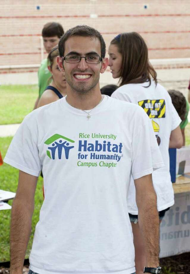 Tawfik Jarjour, 21, is director of the Rice Centennial House project. Photo: Tommy LaVergne/Rice University