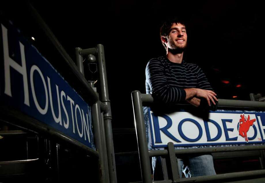 Mason Sanders, 20, a Rice University student, is a recipient of a Houston Livestock Show and Rodeo scholarship. RodeoHouston gives more than $18 million in scholarships and educational programming. Photo: Mayra Beltran / © 2012 Houston Chronicle