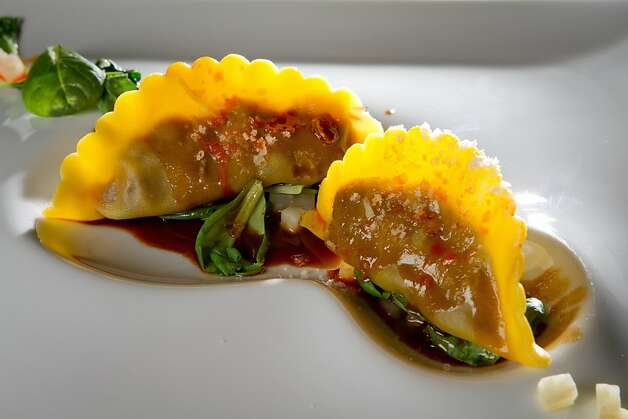 The Short Rib Tortelloni at Parallel 37 restaurant at the Ritz Carlton Hotel in San Francisco, Calif., is seen on Saturday, February 4, 2012. Photo: John Storey, Special To The Chronicle