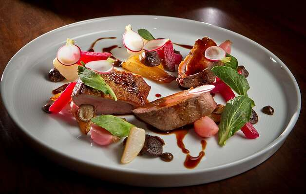The Sonoma Duck Breast at Parallel 37 restaurant in San Francisco, Calif., is seen on Saturday, February 4, 2012. Photo: John Storey, Special To The Chronicle