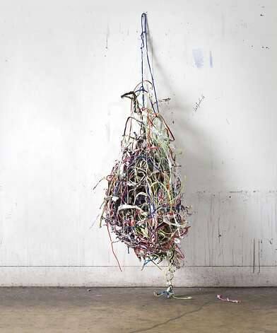 """Bag of Tricks"" (2009) nylon string and paper by Mark Bradford    102 x 144 in.  collection SFMOMA Photo: Fredrik Nilsen"
