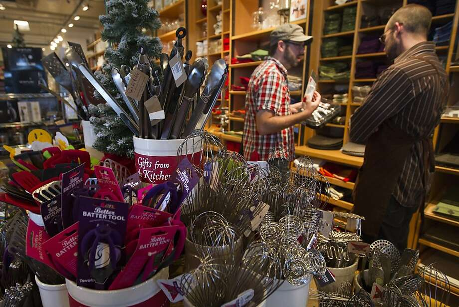Kitchenware retailer Sur La Table will  look for possible purchases at an upcoming gift fair. Photo: Erin Lubin, Special To The Chronicle
