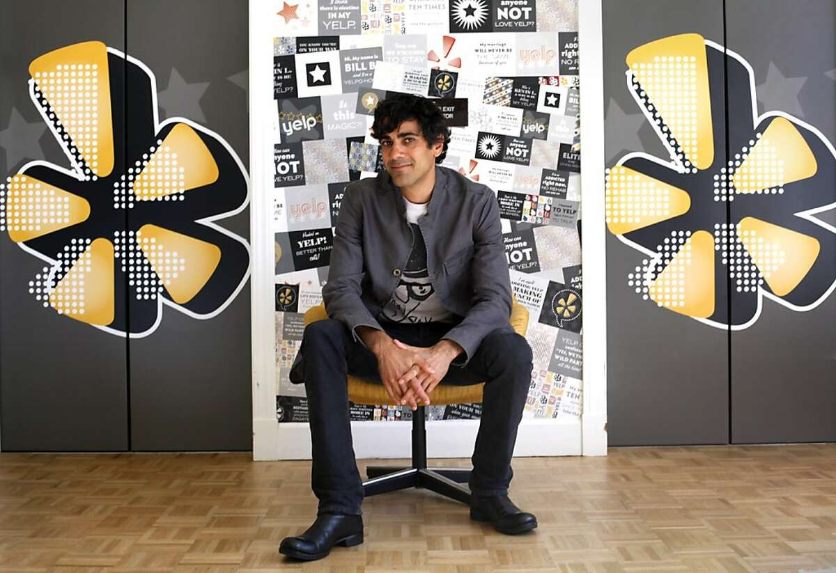 Yelp CEO Jeremy Stoppelman is photographed at the company's headquarters in San Francisco, Calif., Thursday, October 6, 2011.