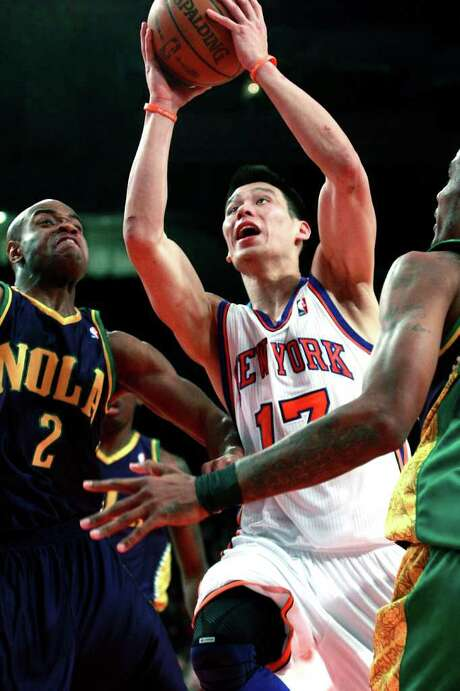 Knicks guard Jeremy Lin had trouble protecting the ball, turning it over nine times. Photo: AP