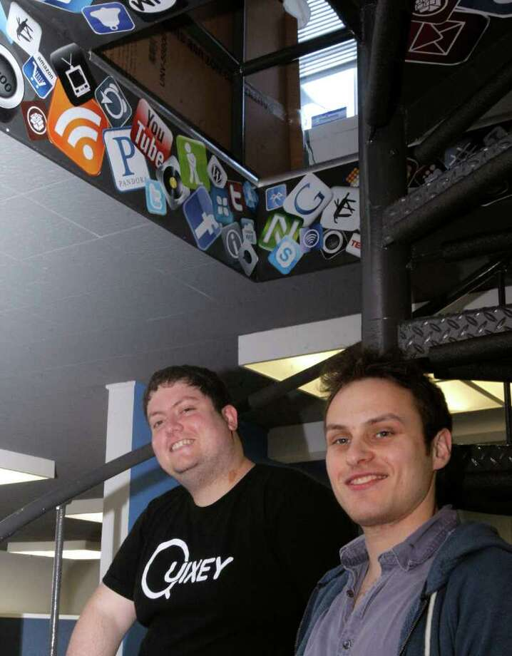Tomer Kagan, left, and Liron Shapira co-founded Quixey, which has developed technology that scours the Internet for information about apps. Photo: Siana Hristova / ONLINE_YES